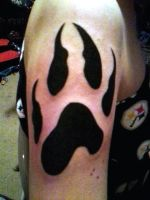 Wolf Paw Print Tattoo by ccoolchic1