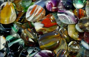 Glass Cabochons Closeup by Undistilled