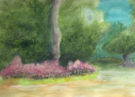 Landscape Watercolor by NaMiKiTtIn
