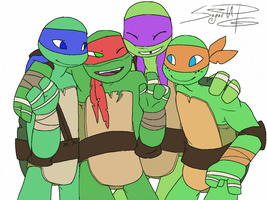 TMNT2012. I Love You Guys by SugarUP