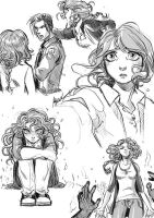 Black and White Sketches by Myed89
