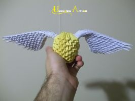 3D Origami - Golden Snitch by Jobe3DO