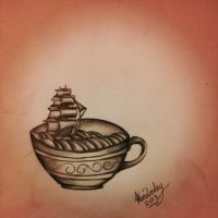 Ship in a teacup by Ancora-Kimberley