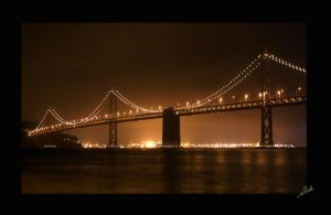 SF Bay Bridge by shell4art