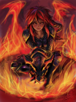 iPad Finger Painting - Ironscale Shyvana, W by ptcrow