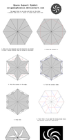 Origami Space Aspect Symbol Diagrams by OrigamiPhoenix