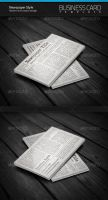 Newspaper Style Business Card by artnook