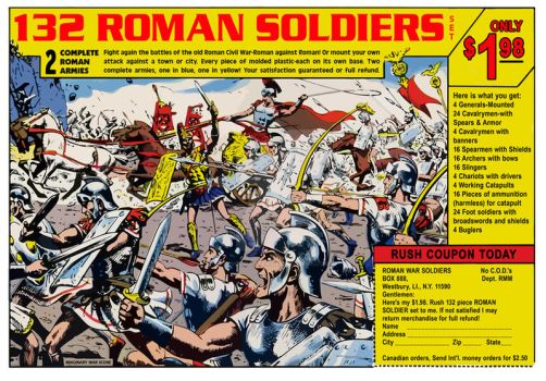 Roman Soldiers Comic Book Ad by KingCoaster
