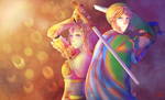 FA: Hyrule Warriors- Link and Zelda by R-ShinyStars