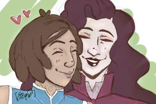 Korrasami Fluff Cakes by mythstify