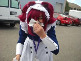 Anime Banzai 2012 More Mey-Rin Bloody nose by spottedcloud123