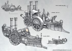 Steam Warships by ortsmor