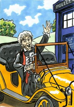 The 3rd Doctor and Bessie by ColinRichards