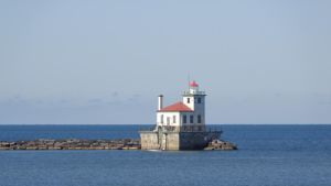 Oswego Harbor West Pierhead Light House by Leannnorrisbond