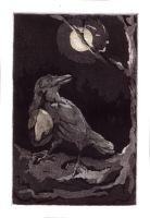 The Crow wears the Moon by teriathanin