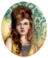 YELLOW - Miniature Portrait by NCEART
