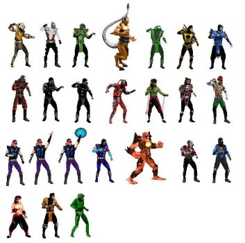Armageddon Characters for MK3 by Methados