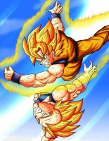 goku vs vegeta 2 by kakarotoo666