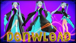 MMD TDA Hatsune Miku Medieval Dress Pack Donwload by Ammy1497