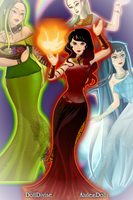 The return of the Queens of the Elements by lilliethecat