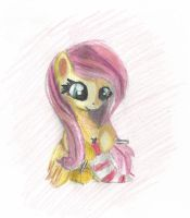 Knitting Fluttershy by littlehappypanda