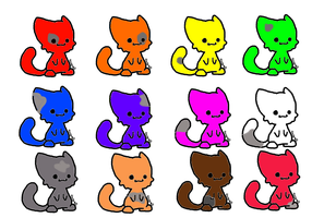 Chibi Spotted Cat adopts (open) by mermaidgirl013