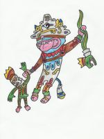 Psychedelic Mayan God Cat by 2eyes-97