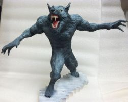 Bloodmoon Werewolf Statue by TheMrWolf