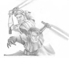 The Clone Wars: Obi-Wan and Anakin by swfan444