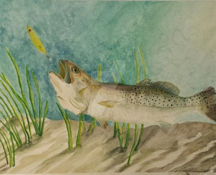 Silver Speckled Trout by MaryThompsonArt