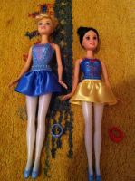 Cinderella and Snow White Ballerina Dolls by SweetHea