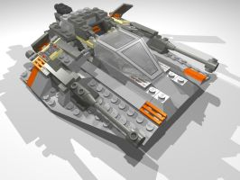 Lego Star Wars SnowSpeeder by jaguarxj13