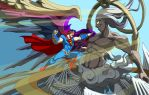 Superman VS Safer Sephiroth by Tyrranux