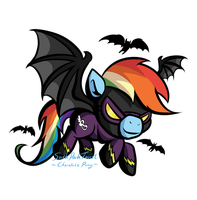 Halloween Shadowbolt Rainbow Dash by SouthParkTaoist