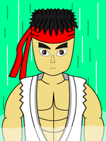 New Ryu drawing by DragonQuestWes