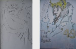 my drawings before and after by Abuelo92