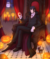 The vampire and the kitten by nominee84