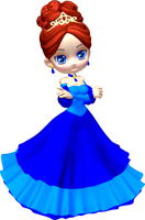 Princess in Blue Poser PNG Clipart (15) by clipartcotttage