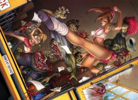 Zombies vs. Cheerleaders Relaunch, M. DeBalfo by sinhalite