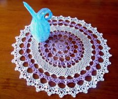 Honeysuckle Doily by Craftcove
