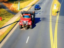 TiltShift Fakes 1 - Truck 1 by draqza