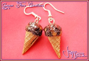 Sacher Ice Creams - Earrings by Jeyam-PClay