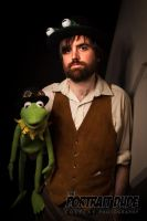 Steampunk Jim Henson with Kermit the Frog by The-Prez