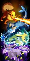 Eeveelutions: This is War by lunasnightmare