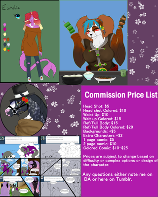 Commissions Open +  Price Sheet by Himesatou