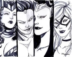 Marvel Women II by LadyMignon