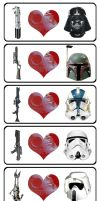 Love the Darkside stickers by Iantoy