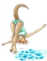 Diving Otter by RisingDragonArt