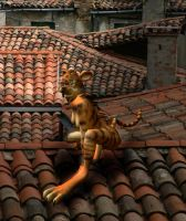 Tiger Mutant on Roof by Fennic