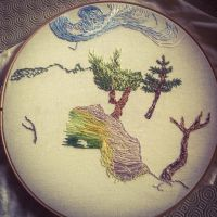 Van Gogh Embroidery WIP by huina